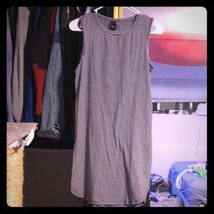 Betsey Johnson black & white sleeveless dress S